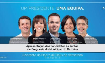 Apresentação dos Candidatos às Juntas de Freguesia